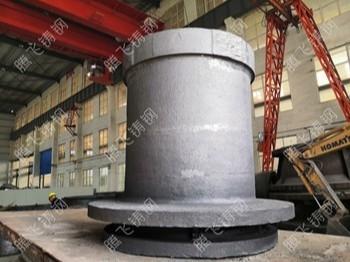 对于铸件粘砂,这个大型铸钢件铸造厂处理的到位