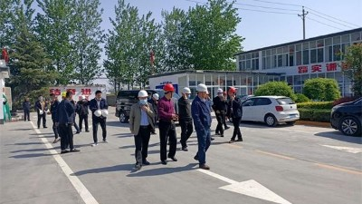 辉县市人大领导莅临腾飞铸钢调研环保工作